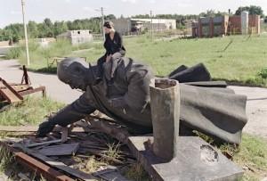 Down Lenin Statue
