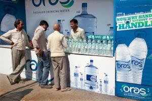 Maha Kumbh Mela. Advertising. Water bottle. Health. Plastic.